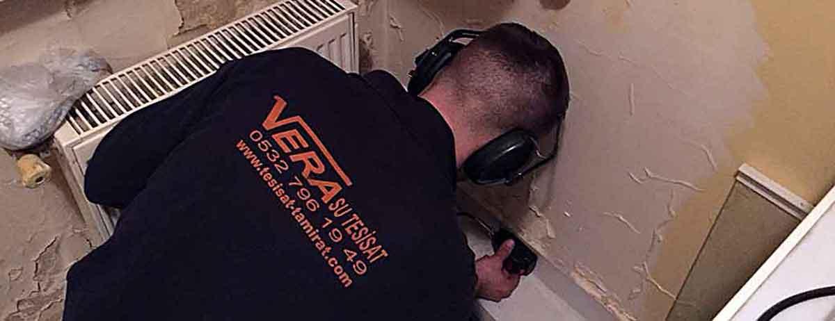 Akbaba su kaçağı tespiti Vera Tesisat